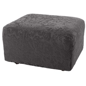 Stretch Jacquard Damask Ottoman Slipcover by Sure Fit