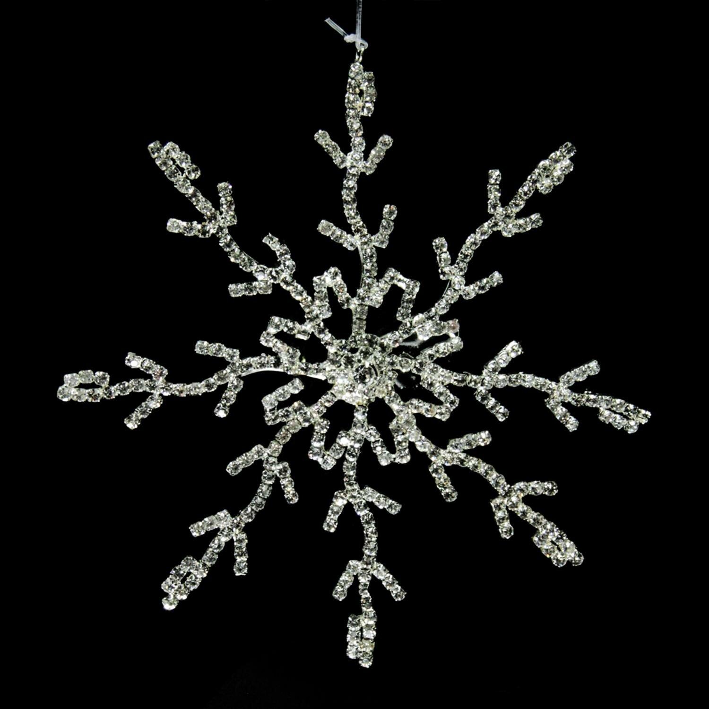 the holiday aisle 55 glamour time rhinestone embellished decorative snowflake christmas shaped ornament wayfair