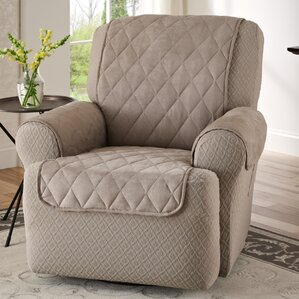Faux Suede T-Cushion Recliner Slipcover & Recliner Slipcovers Youu0027ll Love | Wayfair islam-shia.org