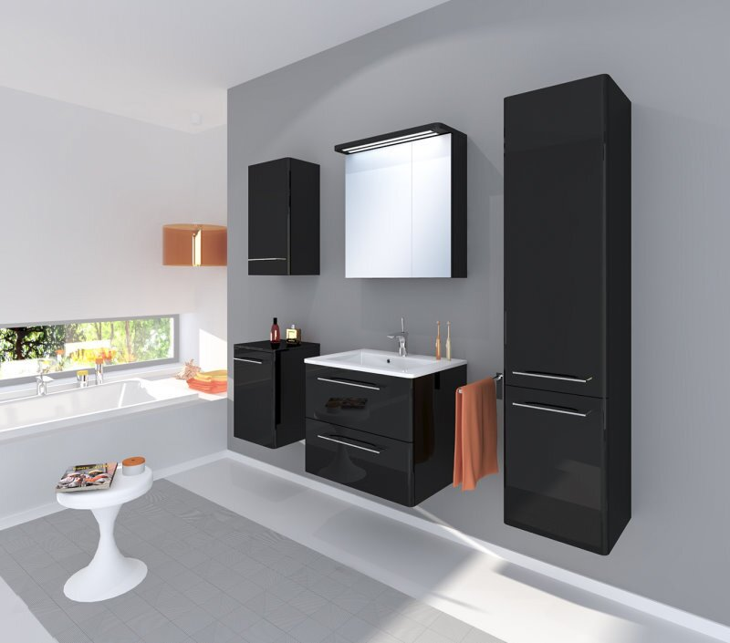 kampen living 5 tlg 60 cm wandmontierter waschtisch set. Black Bedroom Furniture Sets. Home Design Ideas