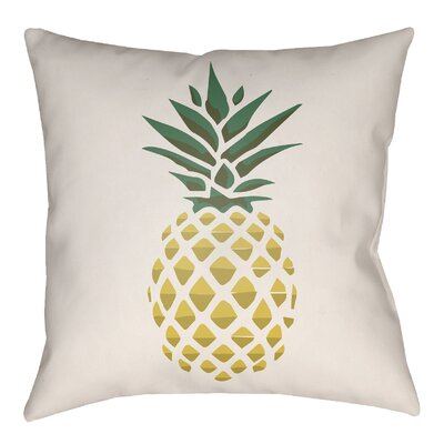 Bay Isle Home Brookwood Pineapple Indoor/Outdoor Throw Pillow Size: 26 H x 26 W