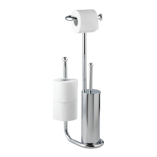 Wenko Universalo Free Standing Toilet Roll And Brush Holder Reviews Wayfair Co Uk