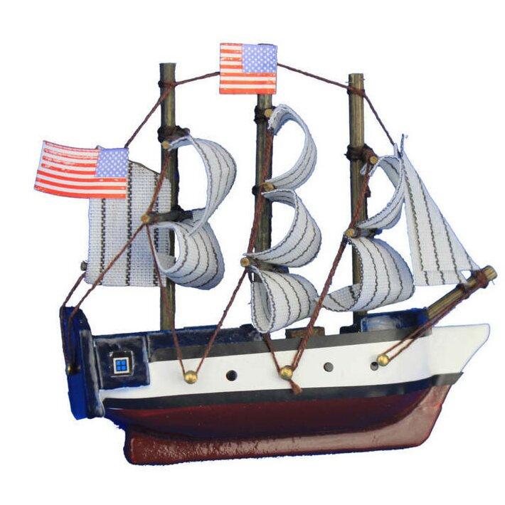 Breakwater Bay Constitution Tall Magnet Model Ship Wall Decor | Wayfair