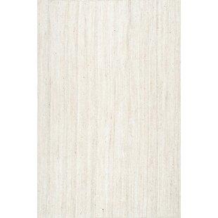 Burrillville Hand Woven White Area Rug