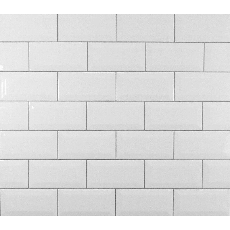 Mulia Tile Classic 3 Quot X 6 Quot Beveled Ceramic Subway Tile In