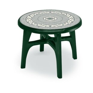 Boss 95cm Iron Deco Round Outdoor Dining Table by SCAB