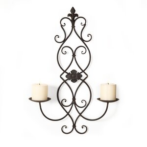 Vertical Wall Hanging Metal Candelabra