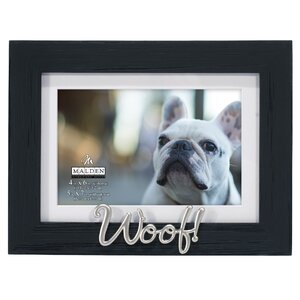 woof distressed picture frame - Dog Picture Frame