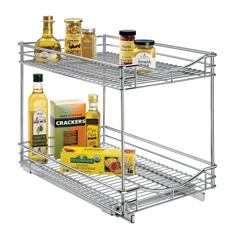 Lynk Roll Out Double Shelf - Pull Out Two Tier Sliding ...