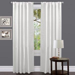 Venetian Solid Semi Sheer Rod Pocket Single Curtain Panel