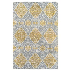 Hand-Woven Gold Indoor/Outdoor Area rug