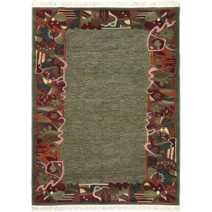 Rondon Dark Red Teal Area Rug