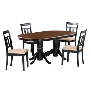 Munos 5 Piece Extendable Solid Wood Dining Set