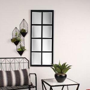Stryker Windowpane Framed Wall Mirror