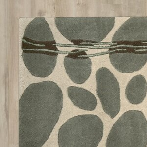 Nevada Hand-Tufted Wool Green/Blue Area Rug