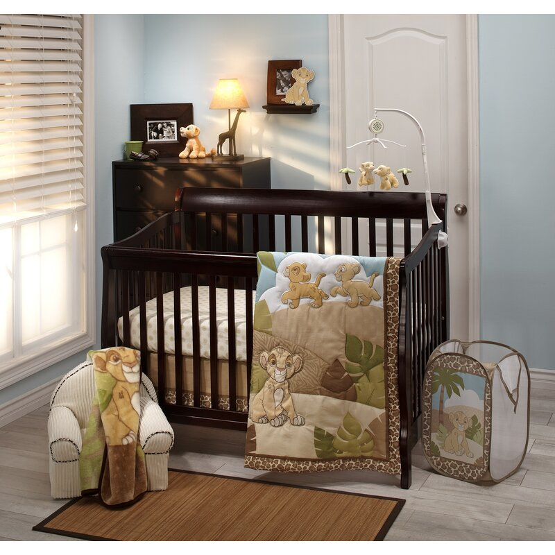 Lion King Urban Jungle Piece Crib Bedding Set