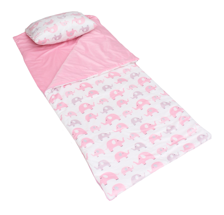 Zoomie Kids Sloane Elephants Printed Micro Mink Children S Sleeping Bag Wayfair