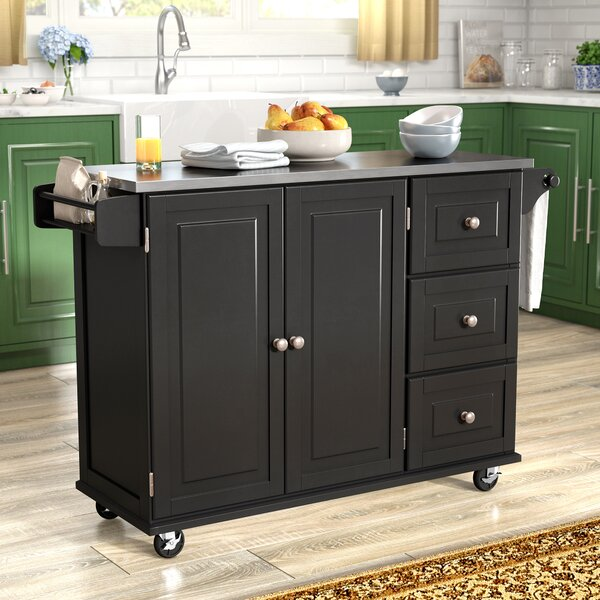 Kitchen Island With Stainless Steel Top: Andover Mills Kuhnhenn Kitchen Island With Stainless Steel