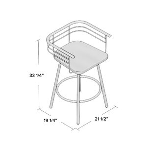 Friedell 26 Swivel Counter Height Stool