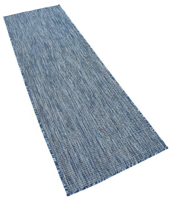 laurel foundry modern farmhouse janet blue indoor/outdoor area rug