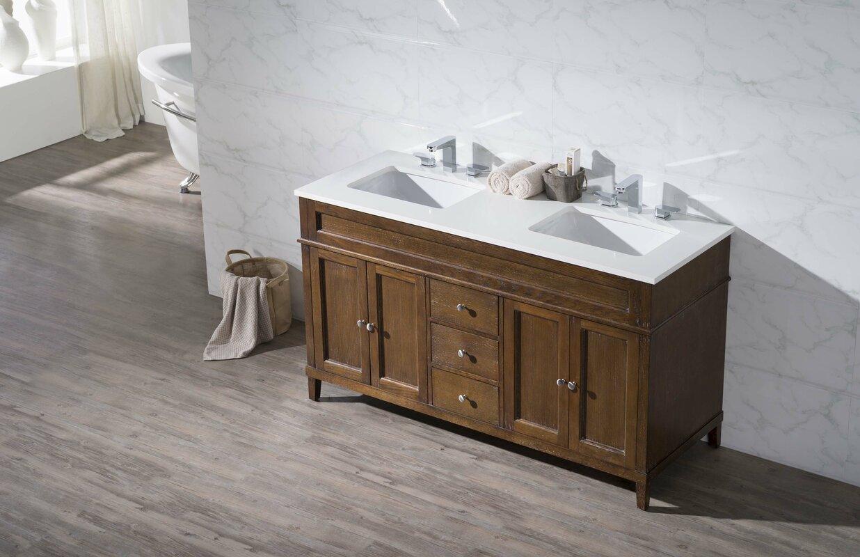 Double bathroom sink vanity - Oakmont 59 Double Sink Bathroom Vanity Set