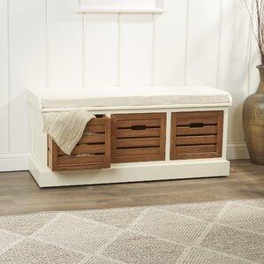 Dorene Wood Storage Entryway Bench