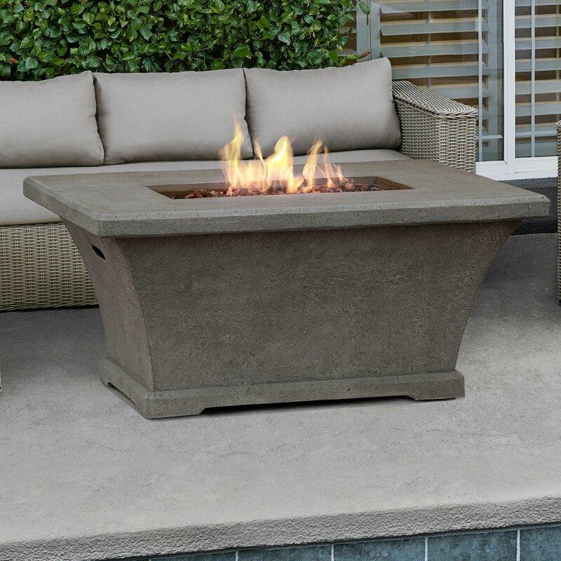 Monaco Rectangle Propane Fire Pit Table