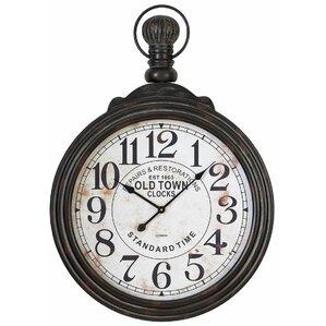 hampton round oversized wall clock