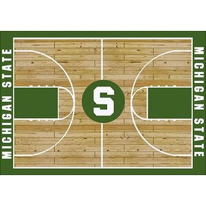 NCAA College Home Court Michigan State Novelty Rug