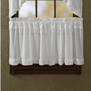 Andrade Unlined Tier Curtain (Set of 2)