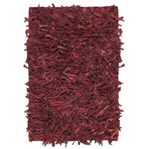 Albany Hand-Knotted Red Area Rug