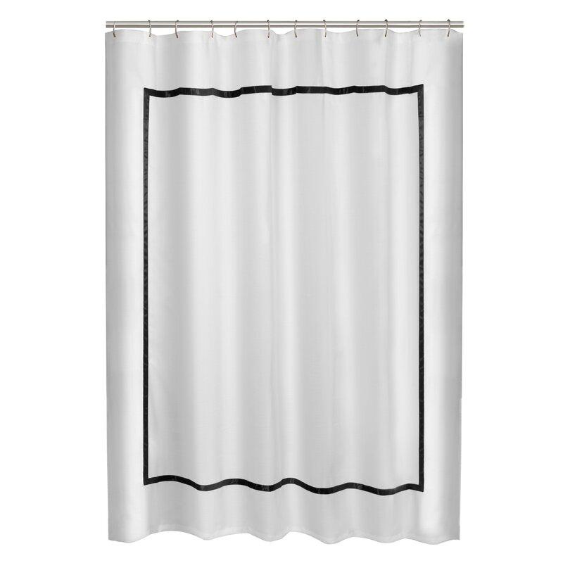 Maytex Hotel Border Shower Curtain & Reviews   Wayfair