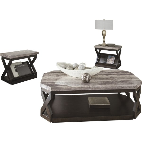 Latitude Run Kelton 3 Piece Coffee Table Set Amp Reviews