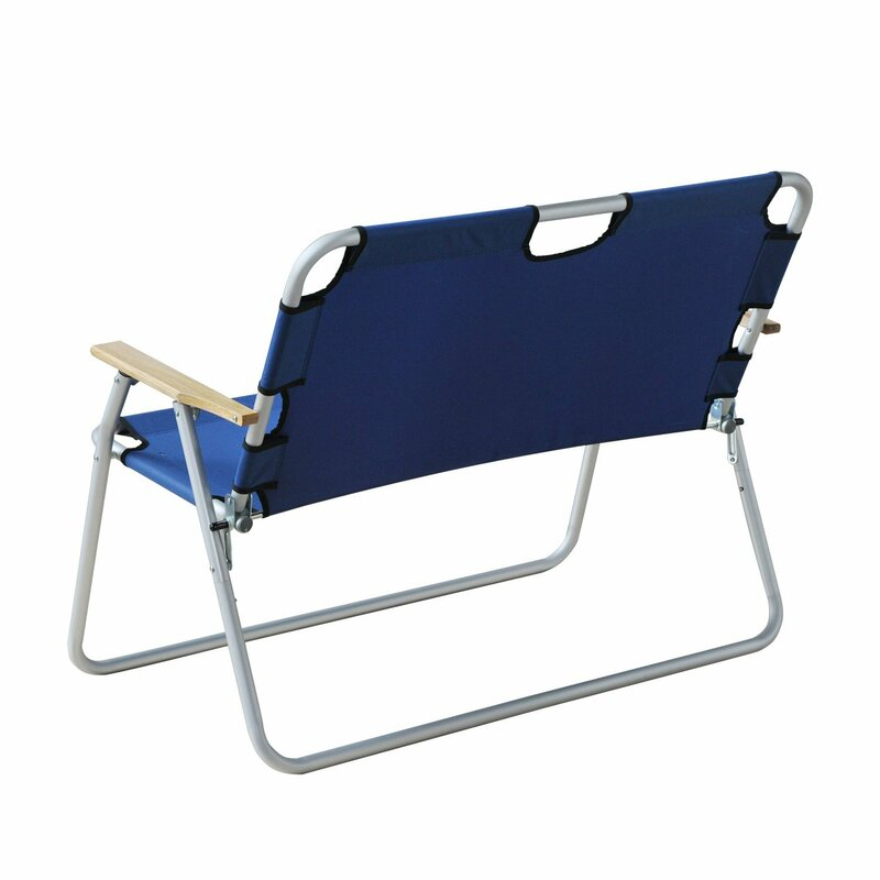 Schmidt 2 Person Aluminum Outdoor Folding Camping Chair