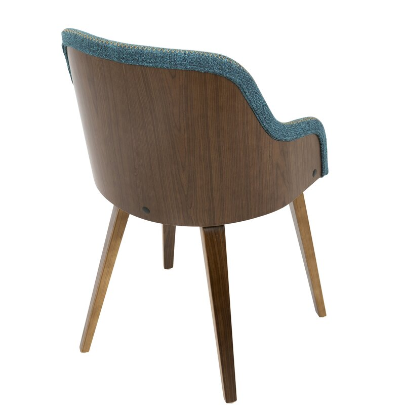 Brighton Mid Century Modern Upholstered Dining Chair