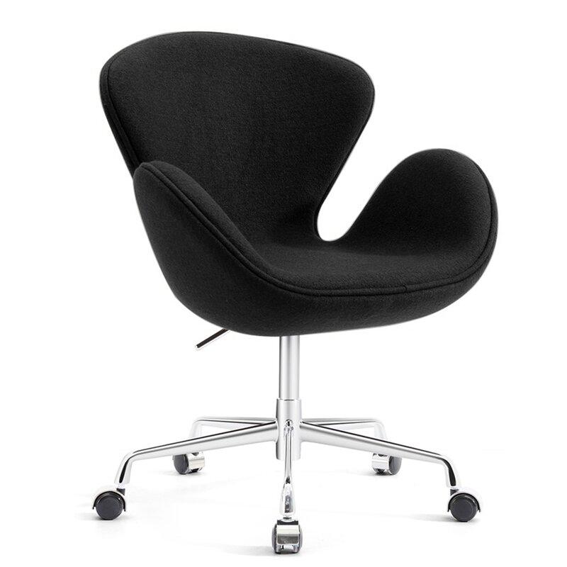 Joann Mid-Century Modern Living Room Upholstered Swivel Lounge Chair