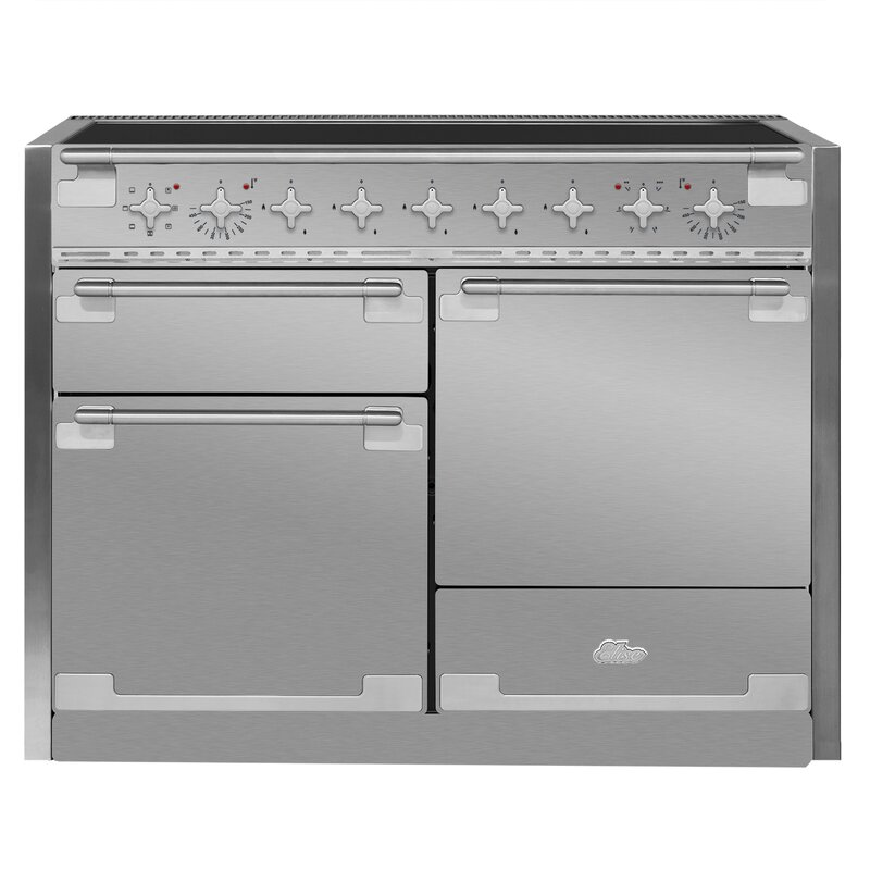 "AGA 48"" Elise Free-Standing Electric Range  Finish: Stainless Steel"