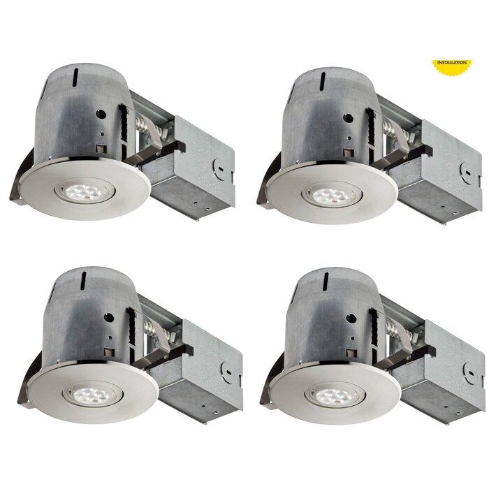 IC Rated Swivel Recessed Lighting Kit  sc 1 st  Wayfair & Globe Electric Company IC Rated Swivel Recessed Lighting Kit ... azcodes.com