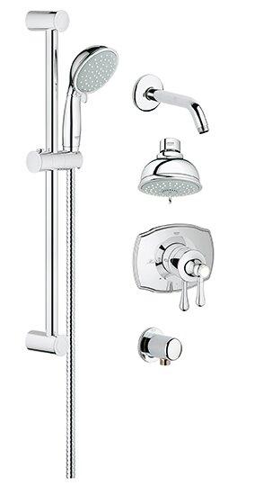Grohe Grohflex Pressure Balance Adjule Shower Head Complete System Reviews Wayfair