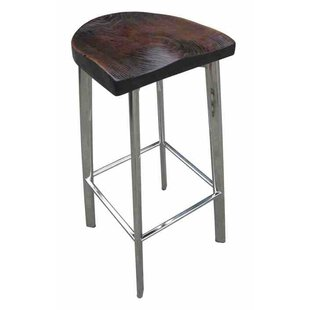 Fiona Rustic Wood 32 Bar Stool
