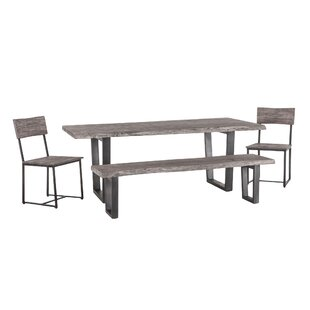 Winterville 4 Piece Solid Wood Dining Set