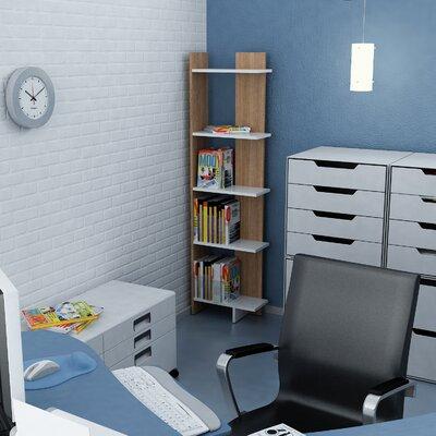 Zipcode Design Lynnfield Corner Bookcase Color (Body/Front): White/Teak