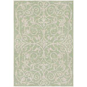 Kempton Ivory/Light Green Indoor/Outdoor Area Rug