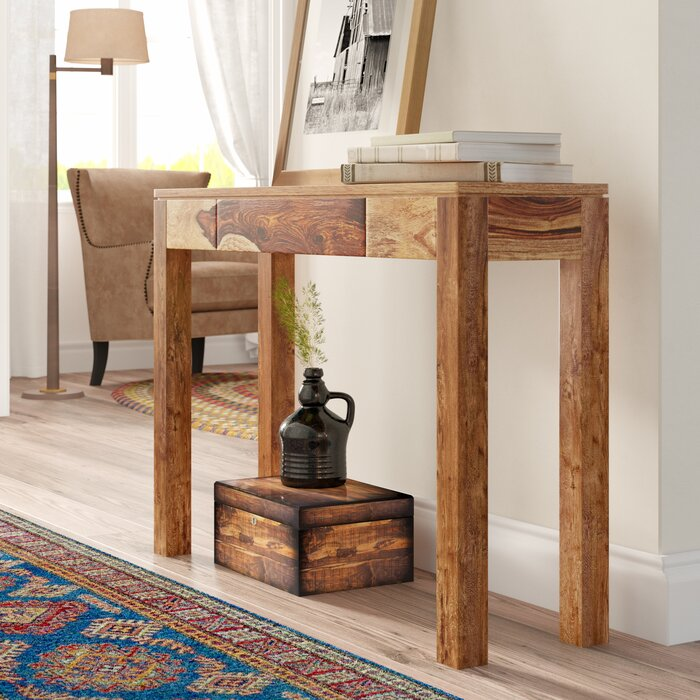 Millwood Pines Spurlock Solid Wood Console Table Reviews Wayfairca