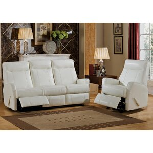 Toledo 2 Piece Leather Living Room Set by Amax