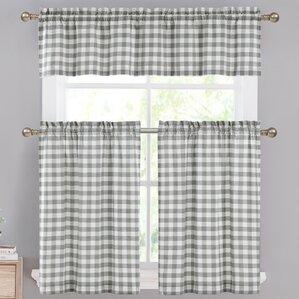 Guyette 3 Piece Kitchen Curtain Set
