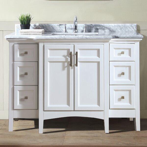 narrow depth bathroom vanity wayfair. Black Bedroom Furniture Sets. Home Design Ideas
