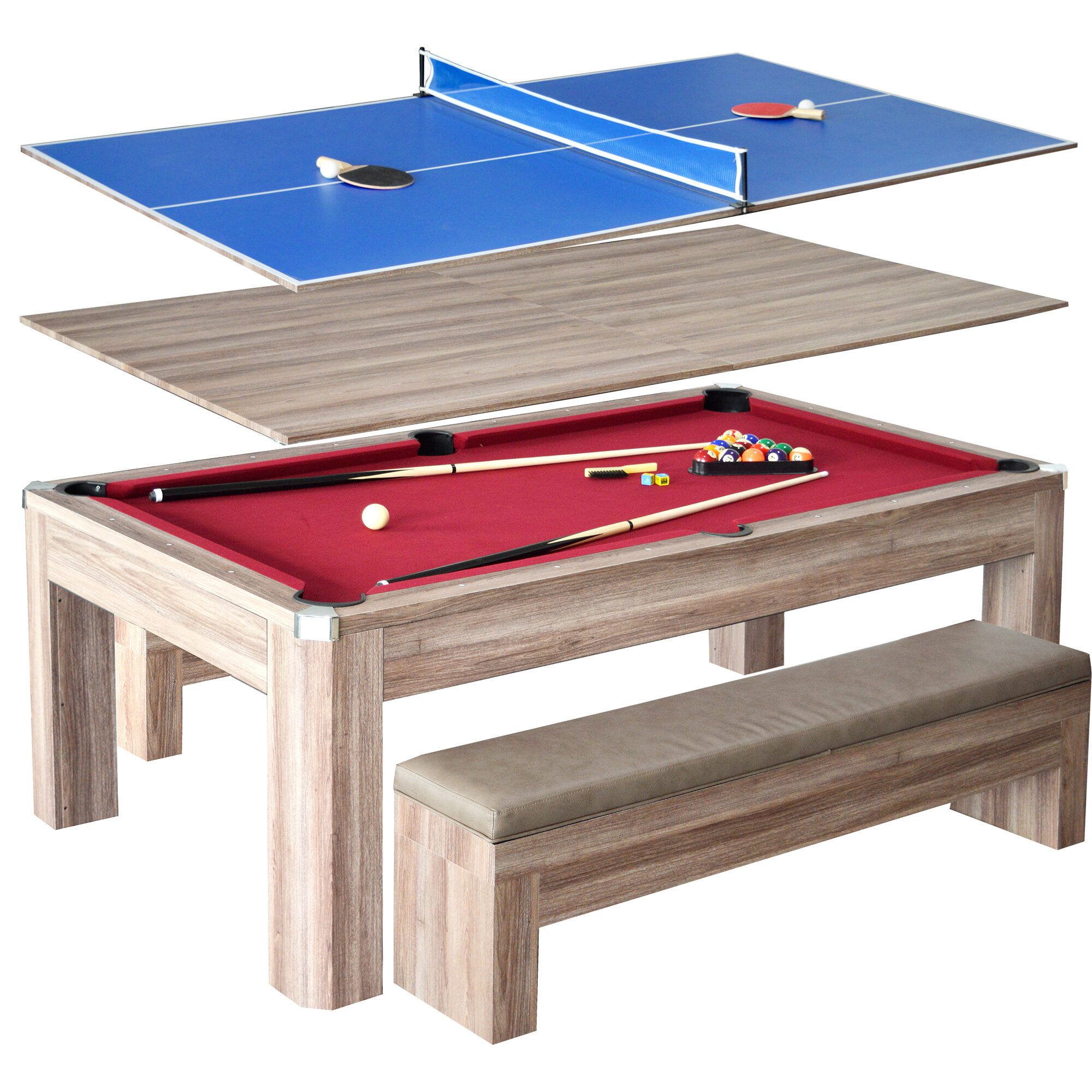 Hathaway games newport 2 piece 7 pool table set reviews wayfair