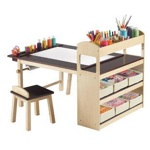 Emilio Kids Rectangular Arts and Crafts Table With Stools  sc 1 st  AllModern & Modern Kids Table + Chair Sets | AllModern