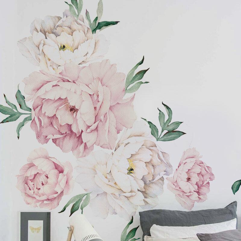 Simpleshapes peony flowers wall decal reviews wayfair mightylinksfo